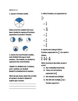 4th Grade Math FSA Practice Week 7