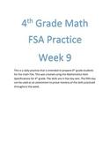 4th Grade Math FSA Practice Week 9