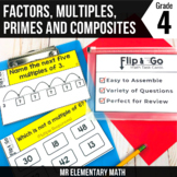 Factors Multiples Prime and Composite Numbers Task Cards 4
