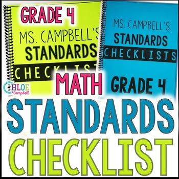 4th Grade Math Florida Standards (MAFS) Checklist