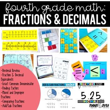 4th Grade Math:  Fractions and Decimals