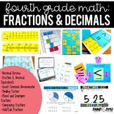 4th Grade Math:  Fractions and Decimals