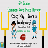 """4th Grade Math Center """"Skills and Test Prep Review Game"""""""
