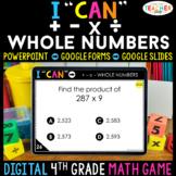 4th Grade Math Game DIGITAL | Addition, Subtraction, Multi