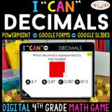 4th Grade Math Game DIGITAL   Decimals   Distance Learning