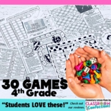 4th Grade Math Games: 30 Game Bundle: 4th Grade Centers: D