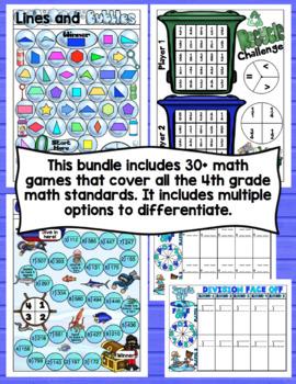 4th Grade Math Games: All Standards Bundle
