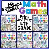 4th Grade Math Games: All 4th Grade Math Standards Bundle