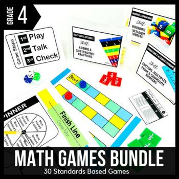 4th Grade Math Games BUNDLE - Ready Set Play