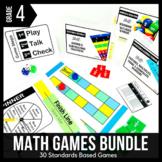 4th Grade Math Centers   4th Grade Math Games BUNDLE - Rea