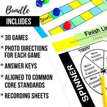 4th Grade Math Centers   4th Grade Math Games BUNDLE - Ready Set Play