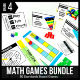4th Grade Math Centers | 4th Grade Math Games BUNDLE - Rea