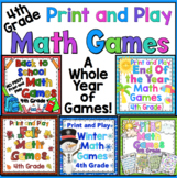 4th Grade Math Games For the Entire Year - Math Game Mega Bundle