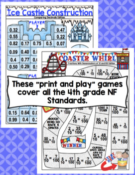 4th Grade Math Games: Number and Operations - Fractions