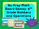 4th Grade Math Games: Numbers and Operations {CCSS}