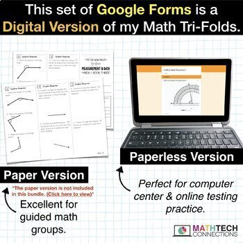 4th Grade Math Google FORMS Bundle of Assessments