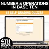 Multiplication & Division Google Form Math Assessments 4th Grade Math Test Prep