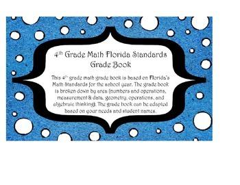 4th Grade Math Grade Book