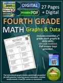 4th Grade Math Graphs and Data Worksheets