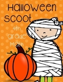 4th Grade Math Halloween Scoot