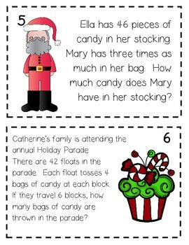4th Grade Math Holiday Scoot
