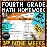 4th Grade Math Homework-3rd Nine Weeks
