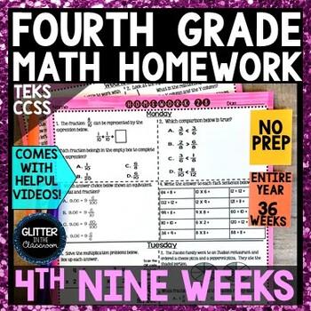4th Grade - Math Homework - 4th Nine Weeks