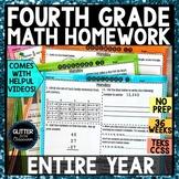 4th Grade Math Homework - Entire Year - 36 Weeks