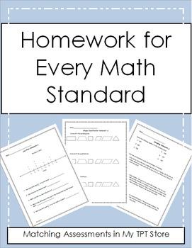 4th Grade Math Homework For the Year