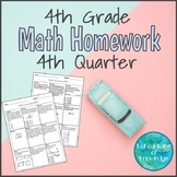 4th Grade Math Homework - Fourth Quarter