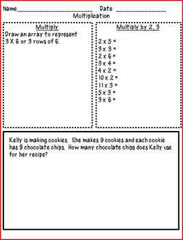 4th Grade Math Homework (Multiplication and Division)- c-scope aligned