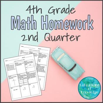 4th Grade Math Homework - Second Quarter