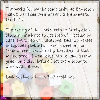 4th Grade Math Spiral Review Texas
