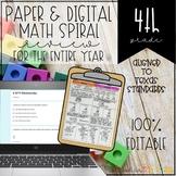 4th Grade Math Spiral Review Independent Work Packets