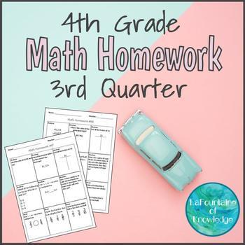 4th Grade Math Homework - Third Quarter