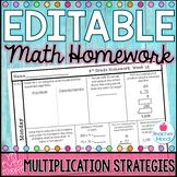 4th Grade Math Homework Week 12 {NO PREP} Spiral Review CCSS [4NBT5, 4OA3]