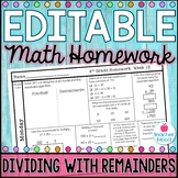 4th Grade Math Homework Week 13 {NO PREP} Spiral Review CCSS [4NBT6]