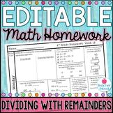 4th Grade Math Homework Week 13 {NO PREP} Spiral Review CC