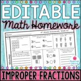 4th Grade Math Homework Week 20 {NO PREP} Spiral Review CC