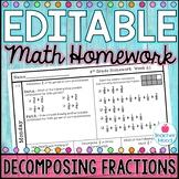 4th Grade Math Homework Week 21 {NO PREP} Spiral Review CC