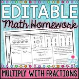 4th Grade Math Homework Week 22 {NO PREP} Spiral Review CC