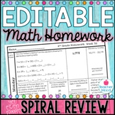 4th Grade Math Homework Week 32 {NO PREP} *Spiral Review - Test Prep* CCSS