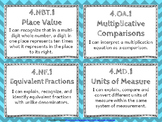 "4th Grade Math ""I CAN"" Statements for Common Core State Standards (Fourth)"