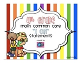 4th Grade Math I Can Common Core Standards