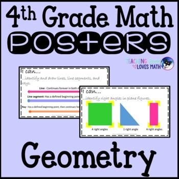Math Posters Geometry 4th Grade Common Core Buddy {17 Posters!}