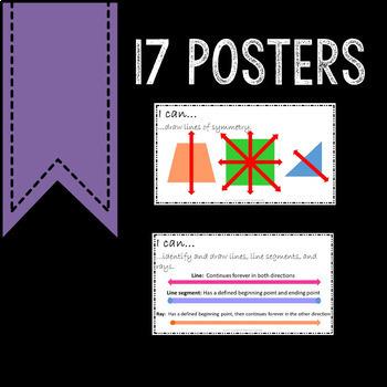 Math Posters 4th Grade Common Core Geometry
