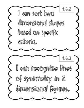 "4th Grade Math ""I Can"" Statements"