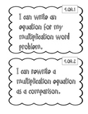 "4th Grade Math ""I Can"" Statements"