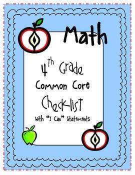 "4th Grade Math ""I Can"" Statements {Common Core Aligned for Missouri}"