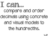 4th Grade Math I Can statements - TEKS standards